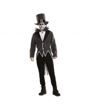 Fato de Esqueleto Elegante para Carnaval
