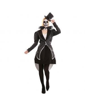 Fato de Esqueleto Elegante para Mulher para Carnaval