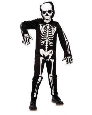 Fato de Esqueleto Infantil para Carnaval
