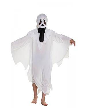 Fato de Fantasma Spooky Infantil Disfarces A Casa do Carnaval.pt