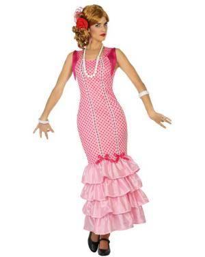 Fato de Flamenga Rosa Adulta Disfarces A Casa do Carnaval.pt