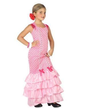 Fato de Flamenga Rosa Infantil Disfarces A Casa do Carnaval.pt