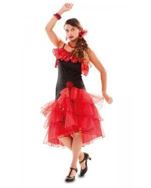 Fato de Flamenga Vermelha Adulta Disfarces A Casa do Carnaval.pt