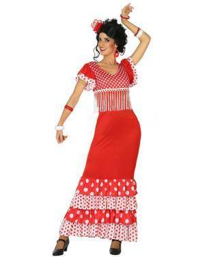 Fato de Flamenga Vermelho Adulta Disfarces A Casa do Carnaval.pt