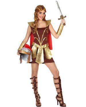 Fato de Gladiadora Mulher para Carnaval o Halloween | A Casa do Carnaval.pt