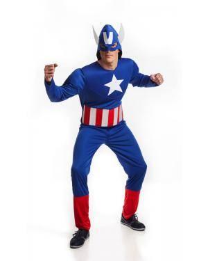 Fato de Herói Americano Adulto M/L Disfarces A Casa do Carnaval.pt
