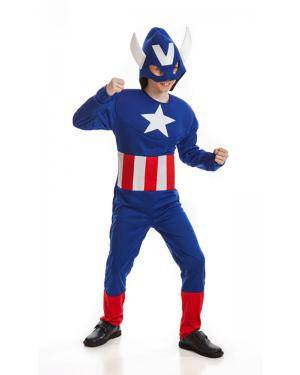 Fato de Herói Americano Infantil Disfarces A Casa do Carnaval.pt