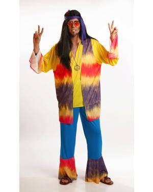 Fato de Hippie Homem Adulto M/L Disfarces A Casa do Carnaval.pt