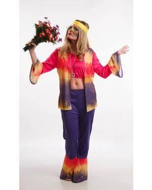 Fato de Hippie Mulher Adulta M Disfarces A Casa do Carnaval.pt