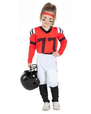 Fato de Jogadora de Rugby Vermelho para Carnaval
