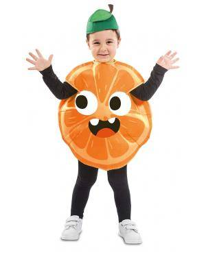 Fato de Laranja Infantil para Carnaval