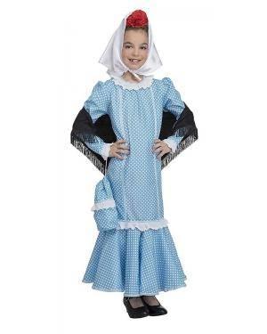 Fato de Madrilena Azul Infantil