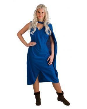 Fato de Medieval Azul Tamanho M para Carnaval