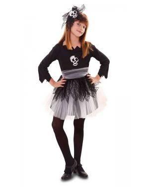 Fato de Menina Caveira Halloween para Carnaval o Halloween | A Casa do Carnaval.pt