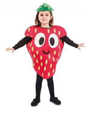Fato de Morango Infantil para Carnaval