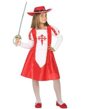 Fato de Mosqueteira Infantil Disfarces A Casa do Carnaval.pt