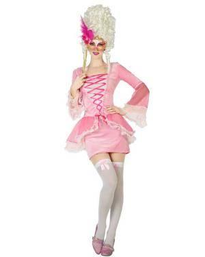 Fato de Mulher Cortesã Rosa Disfarces A Casa do Carnaval.pt