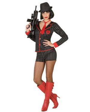 Fato de Mulher Gangster Disfarces A Casa do Carnaval.pt