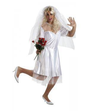 Fato de Noiva Sensual Homem M/L Disfarces A Casa do Carnaval.pt
