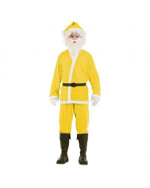 Fato de Pai Natal Amarelo para Carnaval