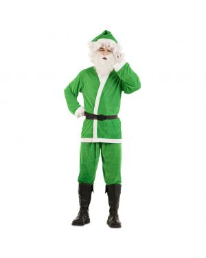 Fato de Pai Natal Verde para Carnaval