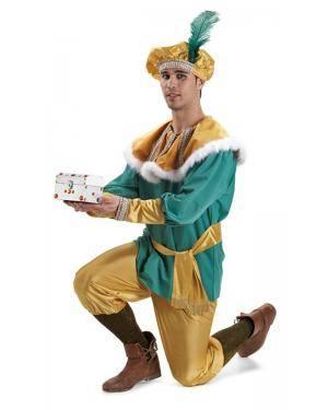Fato de Pajem Melchior Extra Adulto M/L Disfarces A Casa do Carnaval.pt