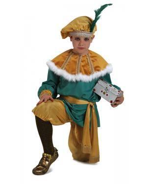 Fato de Pajem Melchior Luxuoso Infantil Disfarces A Casa do Carnaval.pt