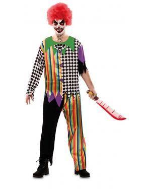 Fato de Palhaço Sinistro Adulto para Carnaval