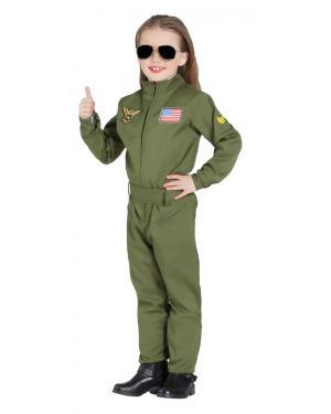 Fato de Piloto de Avião de Combate Unissexo para Carnaval