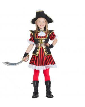 Fato de Pirata Menina Riscas para Carnaval