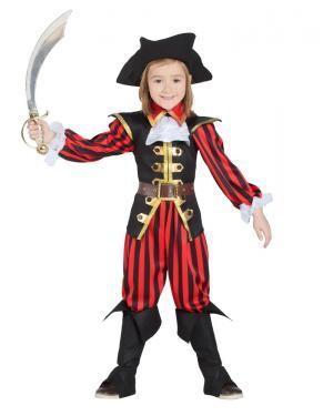 Fato de Pirata Menino Riscas para Carnaval