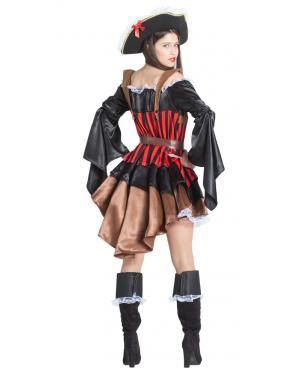 Fato de Pirata Mulher Mangas Largas para Carnaval
