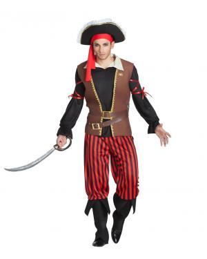 Fato de Pirata Riscas Homem para Carnaval