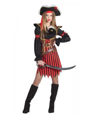 Fato de Pirata Riscas Mulher para Carnaval