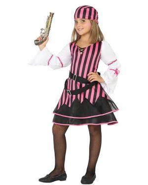 Fato de Pirata Rosa Menina Disfarces A Casa do Carnaval.pt
