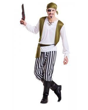 Fato de Pirata Verde Adulto Disfarces A Casa do Carnaval.pt