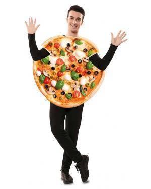 Fato de Pizza Adulto para Carnaval
