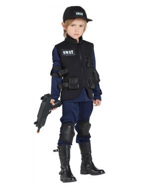 Fato de Polícia Swat para Carnaval