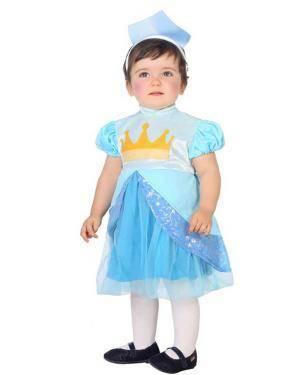 Fato de Princesa Azul Bebé Disfarces A Casa do Carnaval.pt