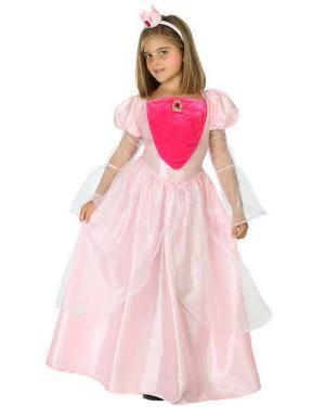 Fato de Princesa Rosa Infantil Disfarces A Casa do Carnaval.pt