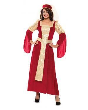Fato de Rainha Medieval Adulta para Carnaval