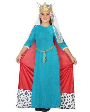 Fato de Rainha Medieval Infantil Disfarces A Casa do Carnaval.pt