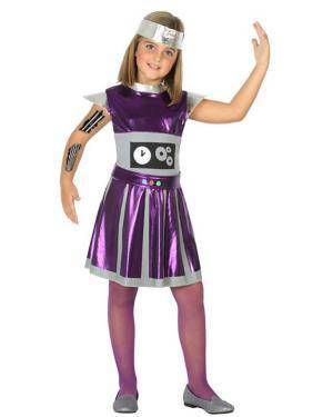 Fato de Robot Menina Disfarces A Casa do Carnaval.pt
