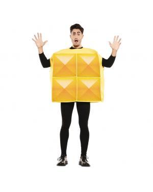 Fato de Tetris Amarelo Adulto para Carnaval