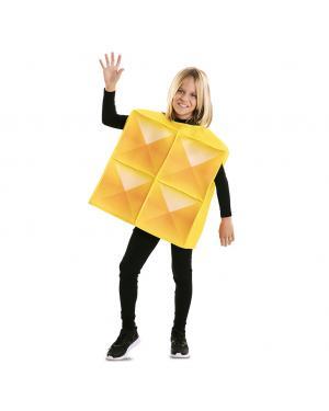 Fato de Tetris Amarelo para Criança para Carnaval