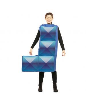 Fato de Tetris Azul Adulto para Carnaval