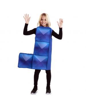 Fato de Tetris Azul para Criança para Carnaval