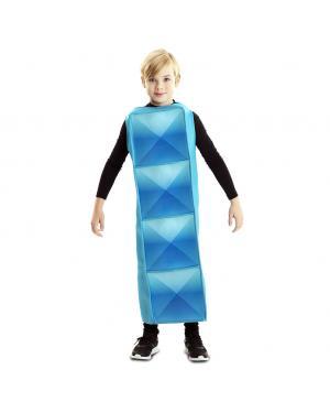 Fato de Tetris Cyan para Criança para Carnaval