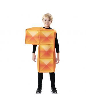 Fato de Tetris Laranja para Criança para Carnaval