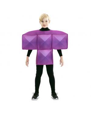 Fato de Tetris Roxo para Criança para Carnaval